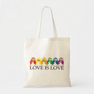 Love Is Love: Penguins Budget Tote Bag