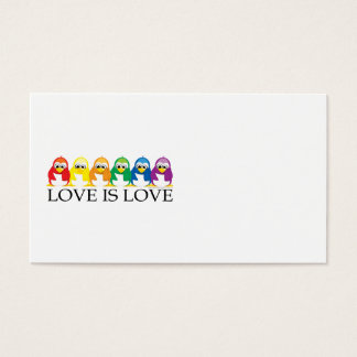 Love Is Love: Penguins Business Card