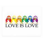 Love Is Love: Penguins Postcard