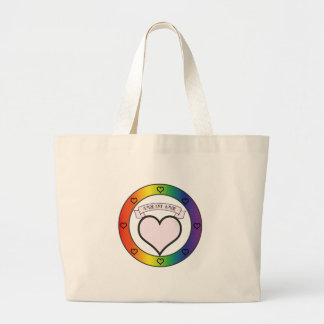 Love is Love. Rainbow and Pink Tote Bags