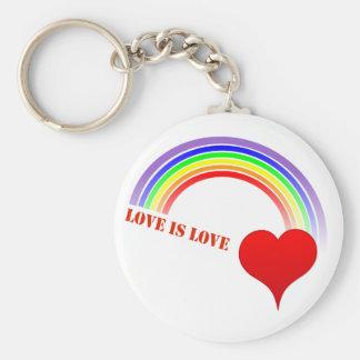 LOVE IS LOVE Rainbow Heart Keychain