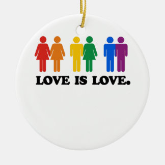 Love is Love Round Ceramic Decoration