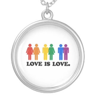 Love is Love - Silver Plated Necklace
