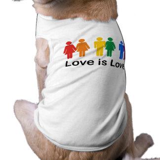 Love is Love Sleeveless Dog Shirt
