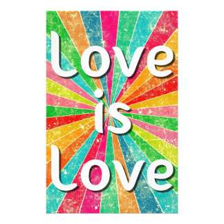 Love is Love Stationery Paper
