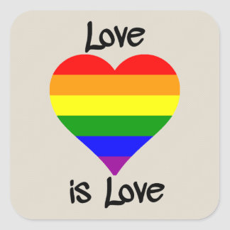 Love Is Love Square Stickers