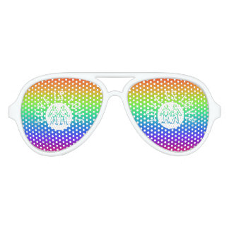 Love is Love Typography Gay Pride LGBT Rainbow Aviator Sunglasses