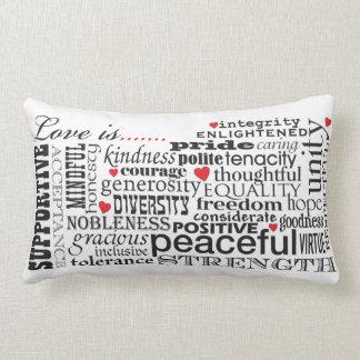 Love Is Love, Words Matter Lumbar Cushion