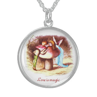 Love Is Magic Round Pendant Necklace