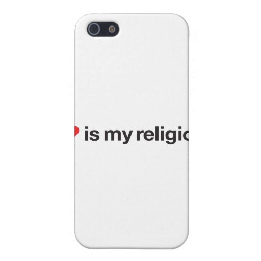 LOVE IS MY RELIGION iPhone 5 COVERS