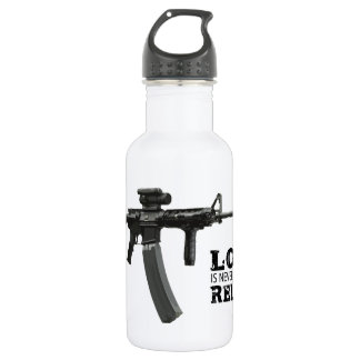 Love is Never Having To Reload AR-15 532 Ml Water Bottle