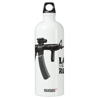 Love is Never Having To Reload AR-15 Water Bottle