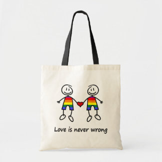 Love is Never Wrong Budget Tote Bag