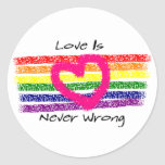 Love Is Never Wrong Stickers