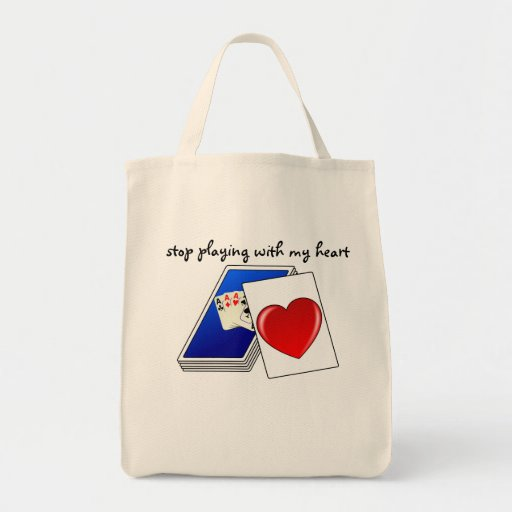 Love is Not a Card Game Slop Playing with My Heart Canvas Bag