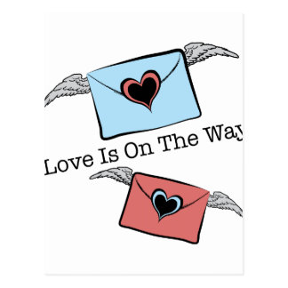 LOVE IS ON THE WAY POSTCARD