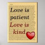 love is patient - art poster