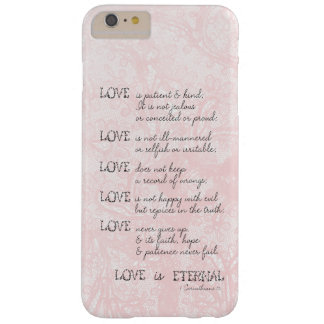 Love is Patient Barely There iPhone 6 Plus Case