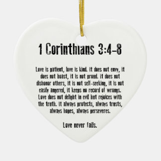 Love is Patient Christmas Ornament