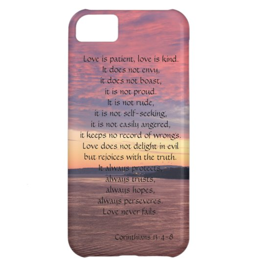 Love is Patient, Corinthians, Ocean Sunset iPhone 5C Case