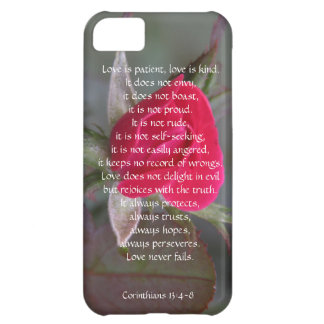 Love is Patient Corinthians Red Rose Bud iPhone 5C Covers