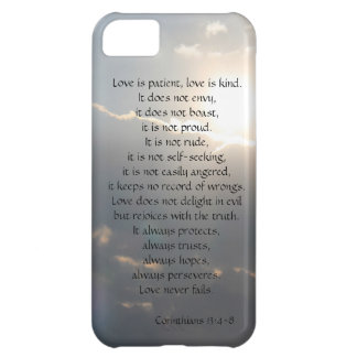 Love is Patient Corinthians verse clouds iPhone iPhone 5C Case