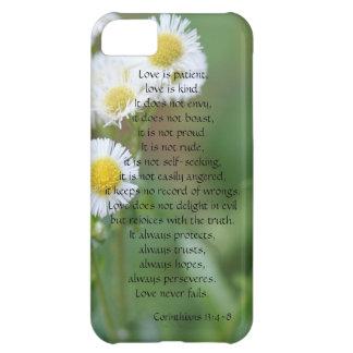Love is Patient Corinthians White Wildflowers iPhone 5C Cases