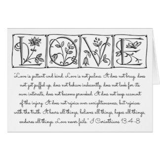 Love is Patient-Kind-Never Fails~Scripture~Wedding Card