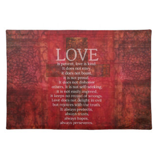 Love Is Patient Love Is Kind Bible Verse Placemat