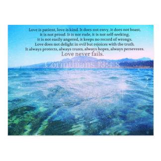 Love Is Patient, Love Is Kind' Bible Verse Postcard