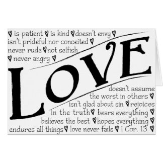 Love is Patient, Love is Kind Card