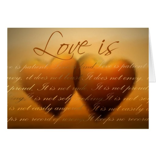 Love is patient; love is kind - Customised Greeting Card