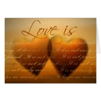 Love is patient; love is kind - Customized Greeting Card