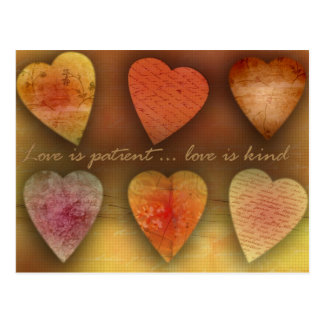 Love is patient love is kind post card