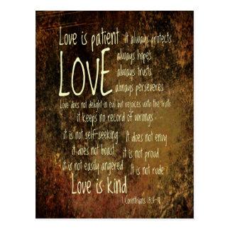 Love Is Patient Mixture Postcard