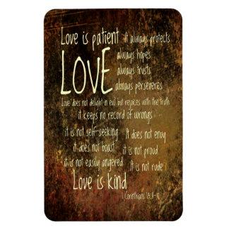 Love Is Patient Mixture Rectangular Photo Magnet