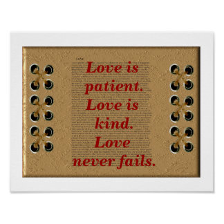 Love is patient. poster