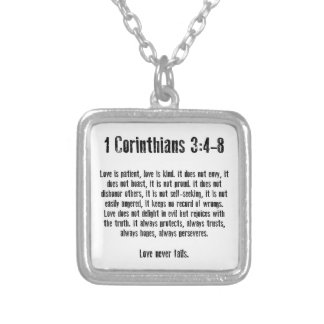 Love is Patient Silver Plated Necklace