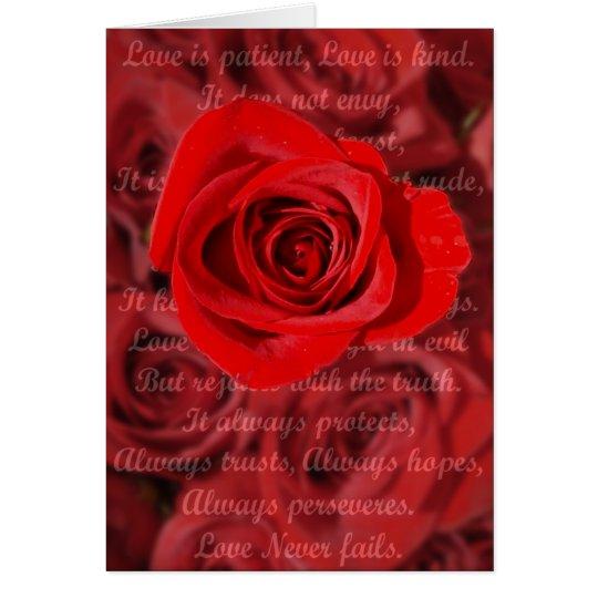 Love is Patient Verse Card