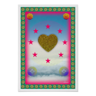 Love is Peace healing art poster