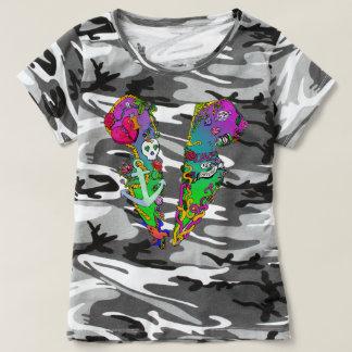 Love Is Poison Tattoo Tux Camo T-Shirt