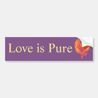 Love is Pure bumper sticker