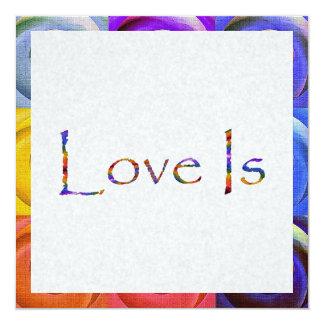 Love Is Rainbow 13 Cm X 13 Cm Square Invitation Card