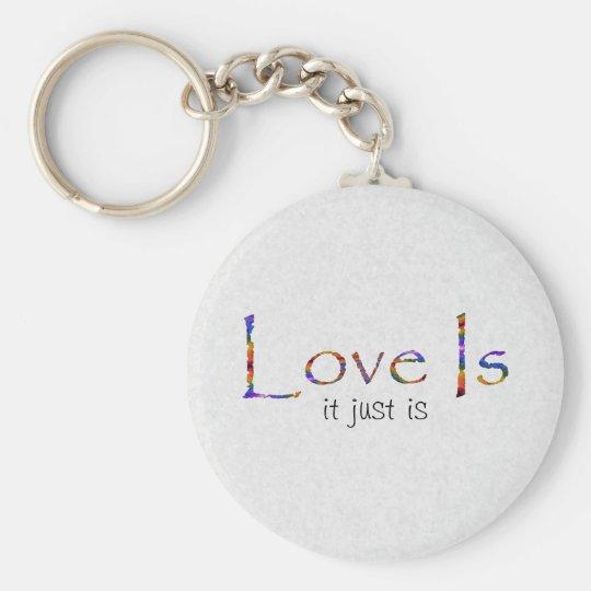 Love Is Rainbow Basic Round Button Key Ring