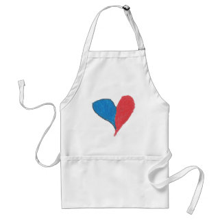 Love is simple and colourful! apron