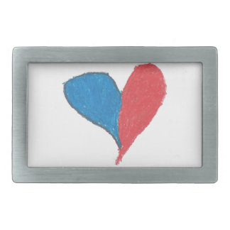 Love is simple and colourful! belt buckle