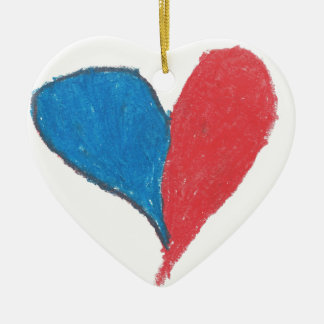 Love is simple and colourful! ceramic heart decoration