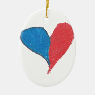 Love is simple and colourful! ceramic oval decoration