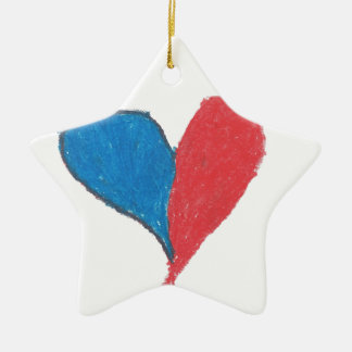 Love is simple and colourful! ceramic star decoration