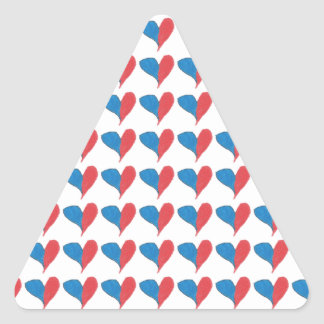 Love is simple and colourful! triangle sticker